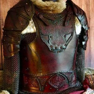 Male Clan Chief SCA Leather Armour Body, Belt and Shoulders
