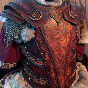 The Asmund Deluxe LARP Leather Armour Full Set