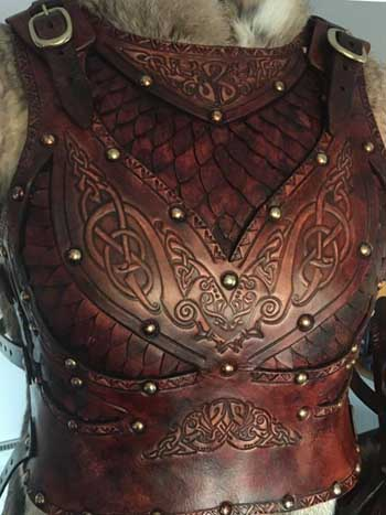 Dragon Queen LARP and SCA Leather Armour