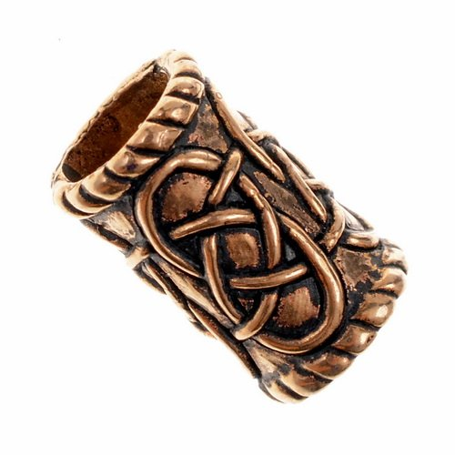 Large Cylinder Beard Bead Bronze Picture