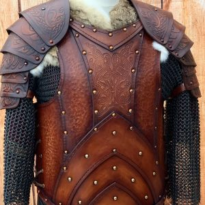 Jörmungandr LARP Leather Body with Shoulders