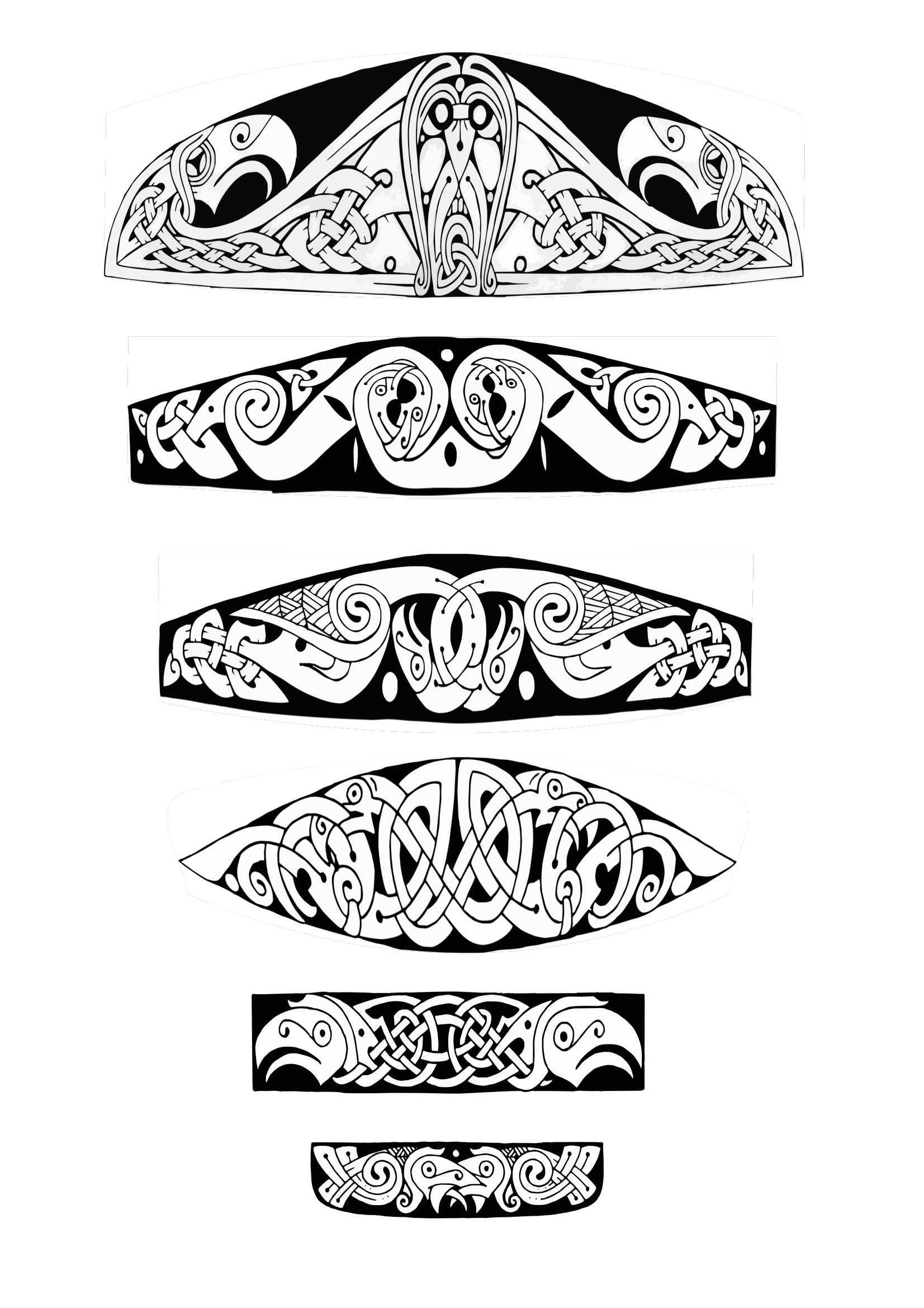 Vendel Shoulder Ravens Art
